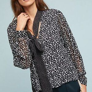 Anthropologie Conditions Apply Marion Leopard Top